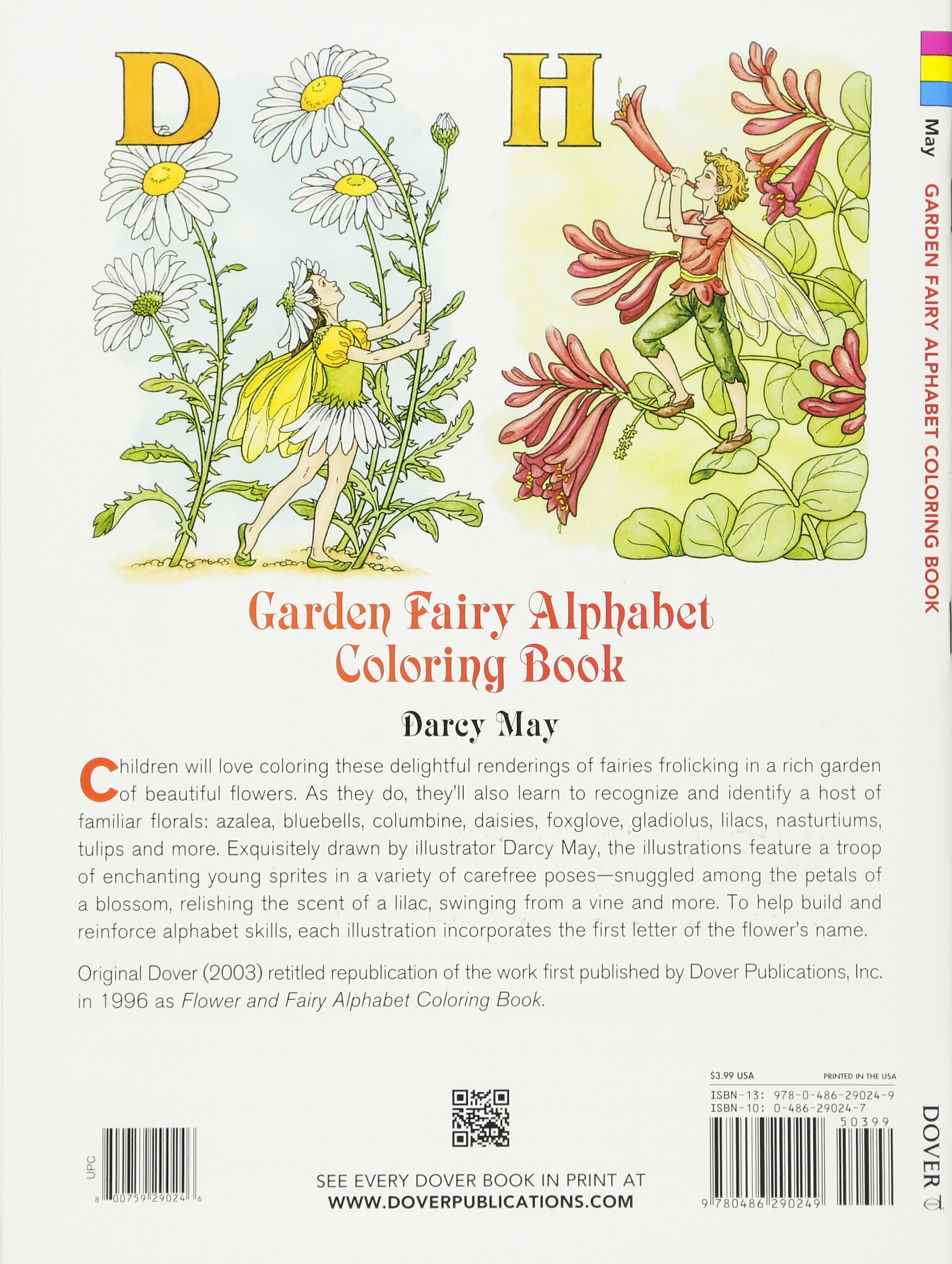 garden fairy alphabet coloring book dover coloring books amazon
