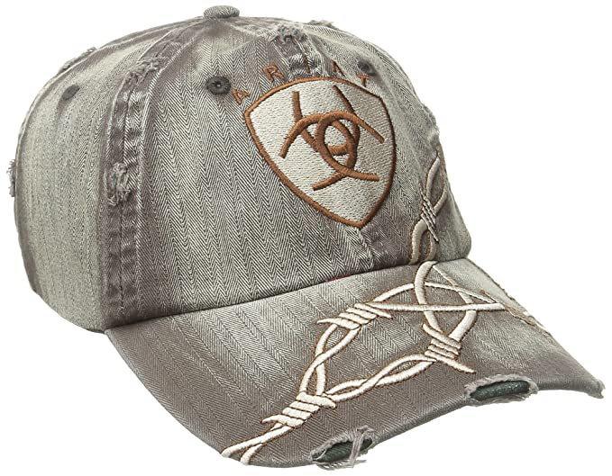 Ariat Men s Distresed Barbed Wire Hat - Brown - One Size  Amazon.com ... 7e60a6d68ce