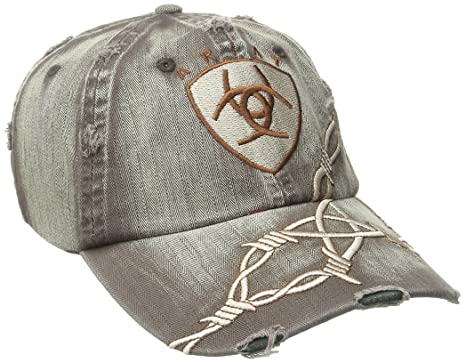 ccde3d70 ARIAT Men's Distresed Barbed Wire Hat, Brown, One Size at Amazon ...