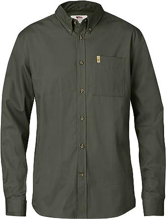 FJÄLLRÄVEN Övik Solid Twill Shirt LS Camisa, Hombre, Gris de montaña, XXX-Large: Amazon.es: Ropa y accesorios