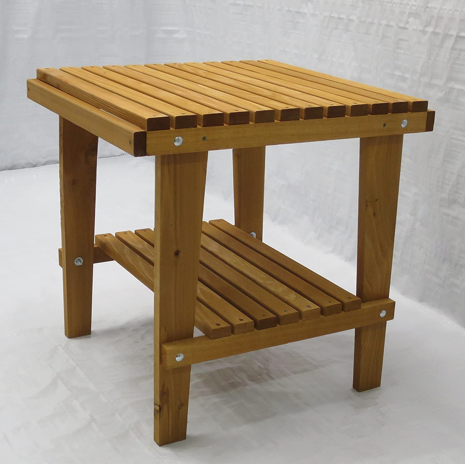 Wondrous Kilmer Creek Cedar Side Table With Shelf Stained Finish Amish Crafted Download Free Architecture Designs Scobabritishbridgeorg