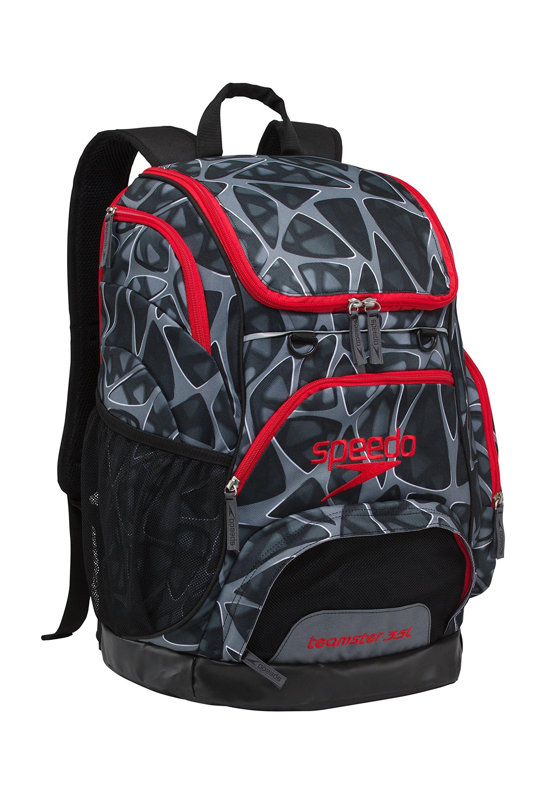 Speedo Printed Teamster 35L Backpack, Charged Black, 1SZ
