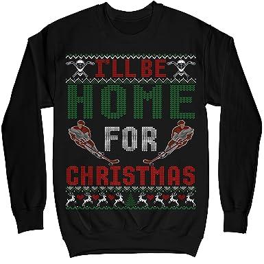 6560e8128 MIK Apparel Home Christmas Hockey Ugly Sweater Shirt - Noel Merry Xmas  Sweatshirt Hoodie at Amazon Women s Clothing store