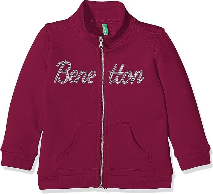 United Colors of Benetton Felpa con Cappuccio Bambina