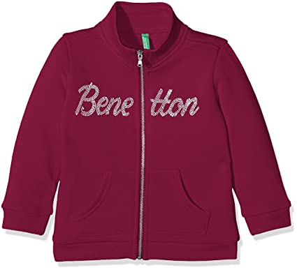 United Colors of Benetton 3JD7C5146, Sudadera para Niños, Rojo (Burgundy) 6-