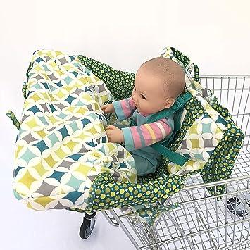 Amazon.com: Verde 2-en-1 carrito de la compra funda de cojín ...