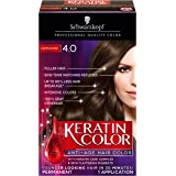 Schwarzkopf Keratin Color Anti-Age Hair Color Kit, 4.0 Cappuccino (Pack of 2)