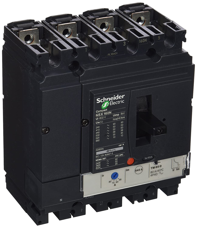 Corta circuitos Schneider Electric LV430863 corta circuito 4 160 A, IP40, -35-70 /°C, -55-85 /°C, 140 mm, 86 mm
