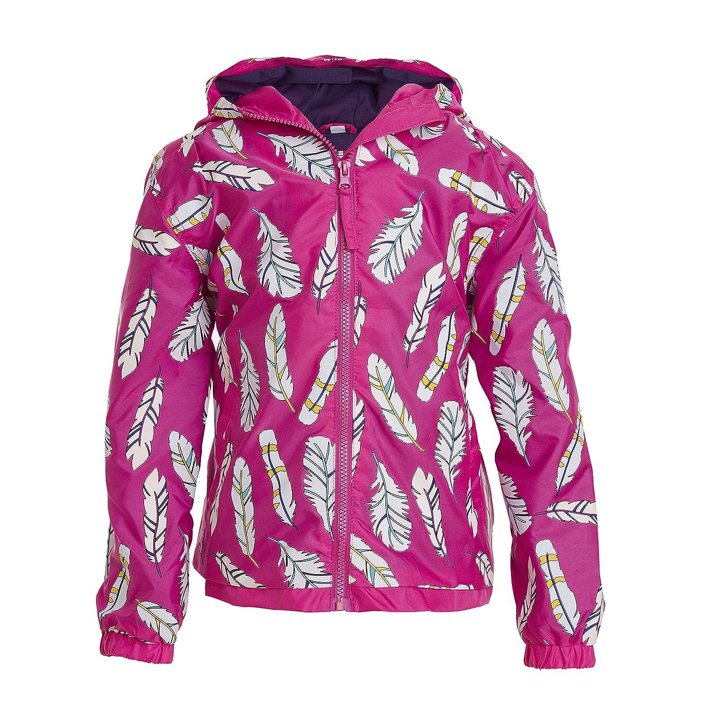 Impermeabile rosa ripiegabile con piume - Magico impermeabile cambia colore