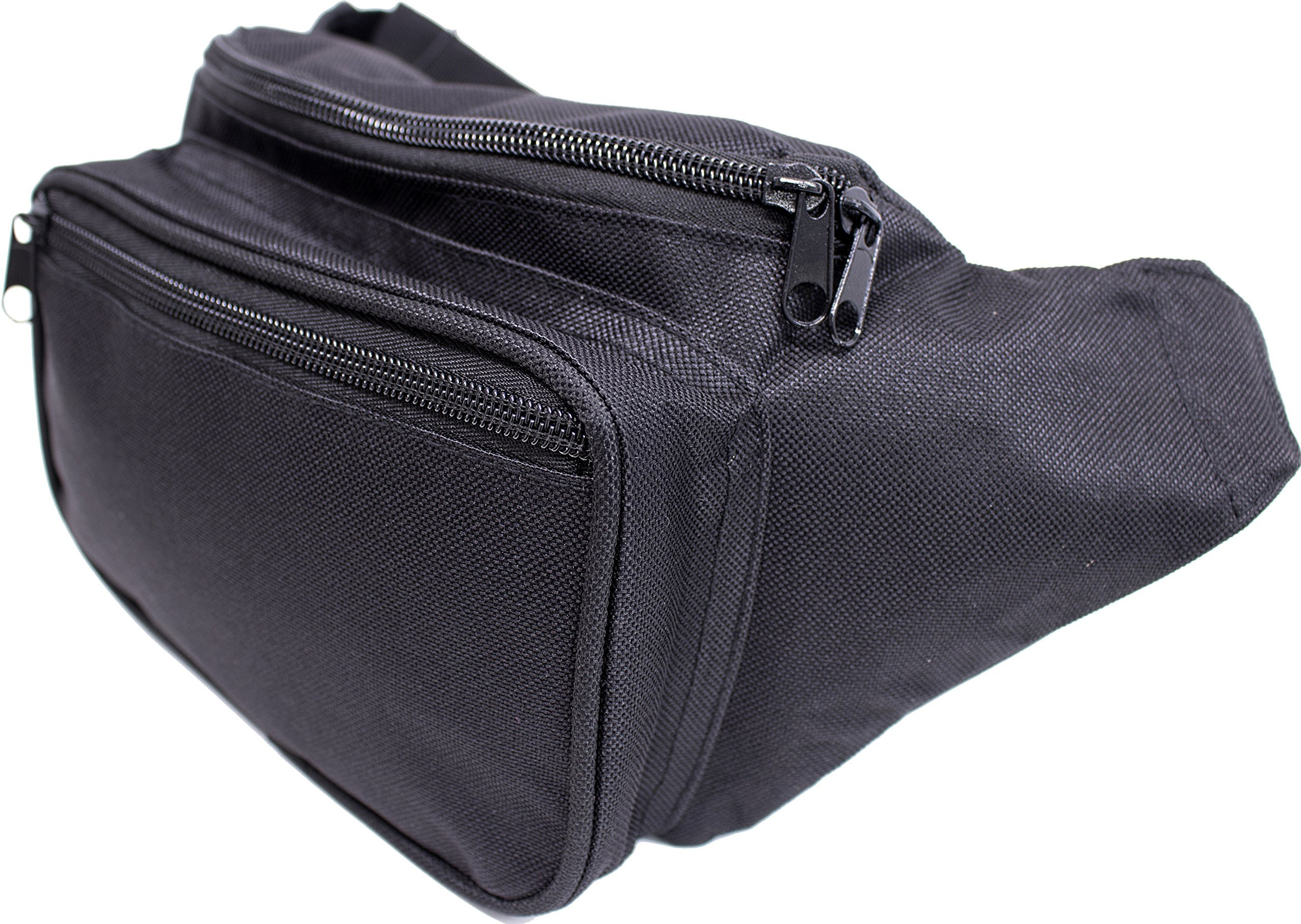SoJourner Bags Fanny Pack - Classic Solid Bright Colors (Black)