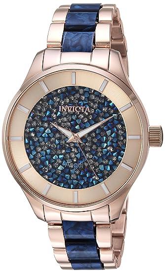 Amazon.com: Invicta - Reloj de cuarzo para mujer con correa ...