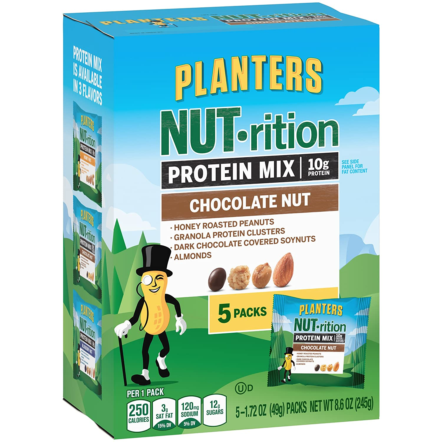Planters Mixed Nuts, Lightly Salted Deluxe Mixed Nuts, 15.25 Ounce on planters salted peanuts, planters unsalted nuts, planters tube nuts, planters dry roasted peanuts,