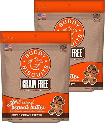 Buddy Biscuits Grain Free Soft Chewy Dog Treats 5 oz Each