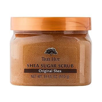 Tree Hut Shea Sugar Scrub, Original Shea 18 oz (Pack of 2) Barr Co. Soap Shop Lip Balm (Spanish Lime)