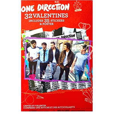 One Direction 32 Valentines Includes 35 Stickers and Poster: Toys & Games
