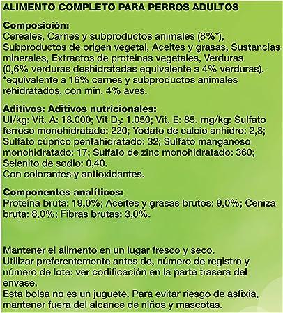 Purina Friskies Pienso Comida para Perro Adulto, Sabor Aves y Verduras - 3 Kg