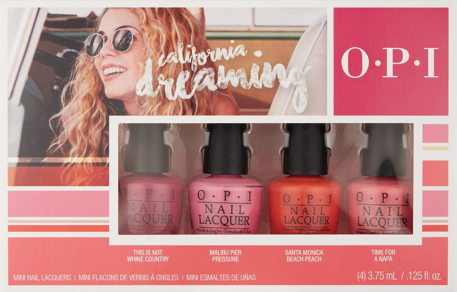 OPI California Dreaming Mini Kit Collection 4 x 3,75 ml: Amazon.es ...