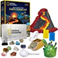 NATIONAL GEOGRAPHIC Earth Science Kit - Over 15 Science Experiments & STEM Activities for Kids, Crystal Growing, Erupting Vol