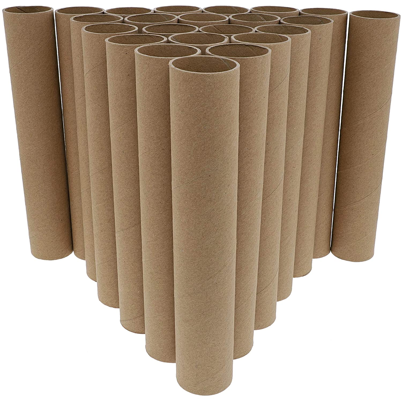 Bright Creations 4,8 x 25,4 cm Pack de 24 tubos de papel de cart/ón para manualidades color marr/ón