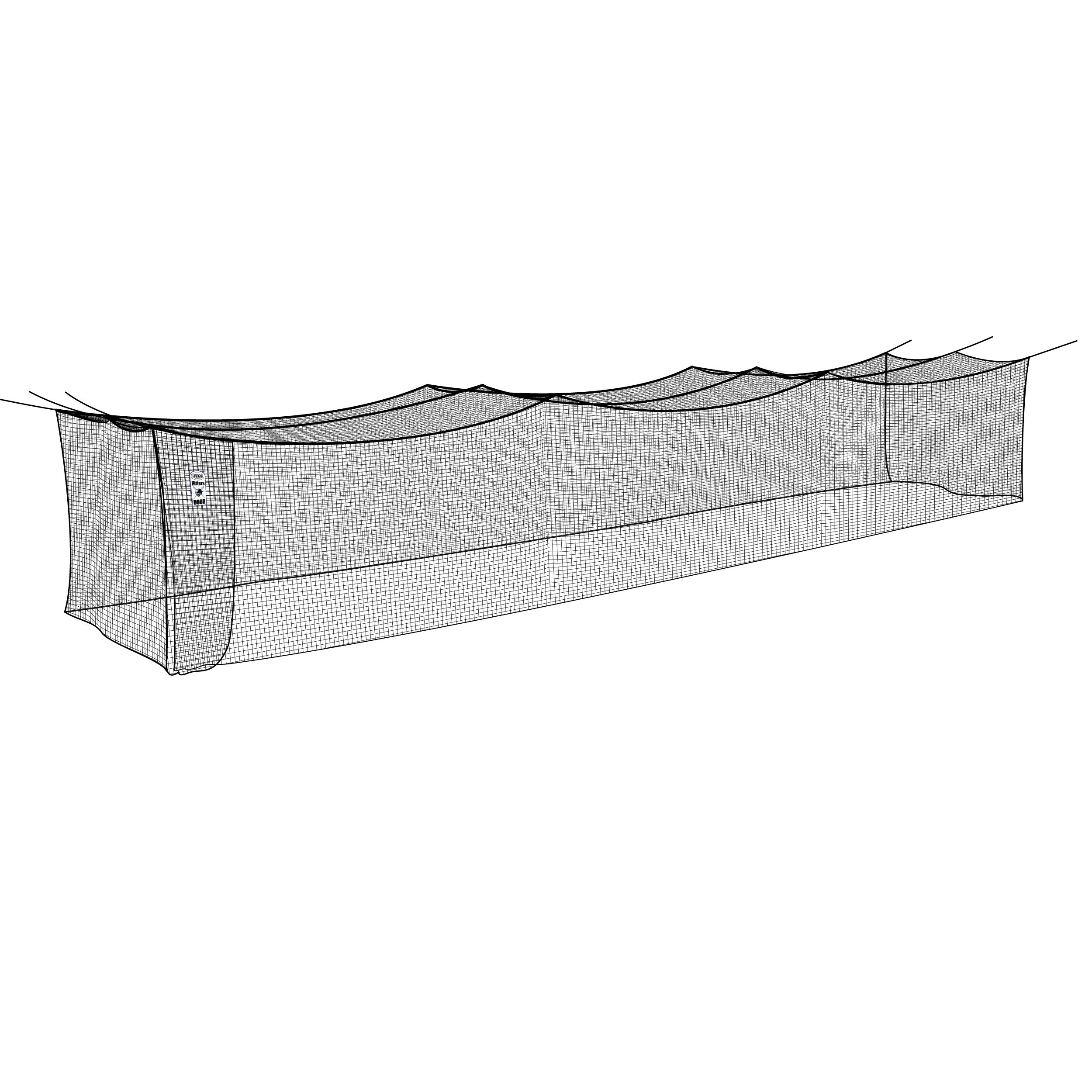 Jugs Batting Cage Nets - #27 Twisted Knotted Black Polyethylene