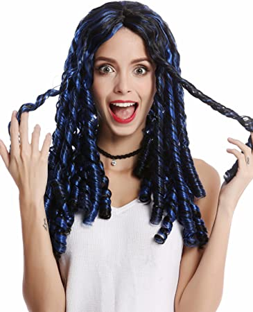 WIG ME UP /® 90674-ZA4 Man Lady Party Wig Halloween Dreadlocks Rasta Rastafari Brown 16