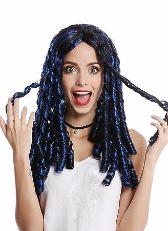 WIG ME UP ® - 8-68308-ZAC3+ZA103 Peluca Mujer Halloween Carnval