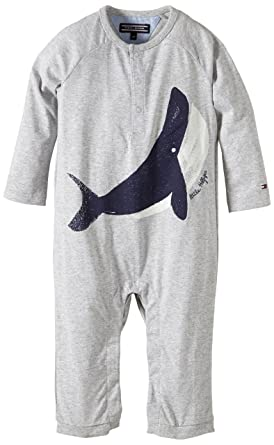 Tommy Hilfiger Baby - Jungen Strampler WHALE BABY BOY COVERALL L S    EZ57119769, 3eb001283f