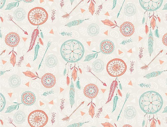 Verde & Naranja Atrapasueños algodón tela - tela libertad - por ...