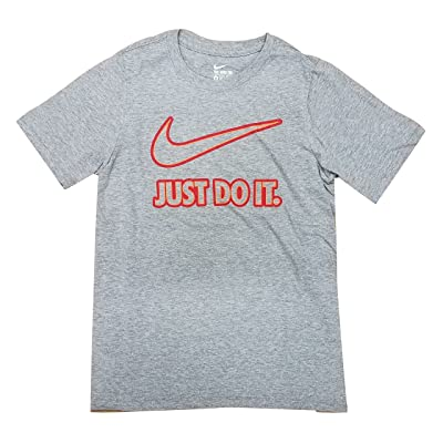 Nike Boys Big Swoosh Just Do It Graphic Cotton Shirt