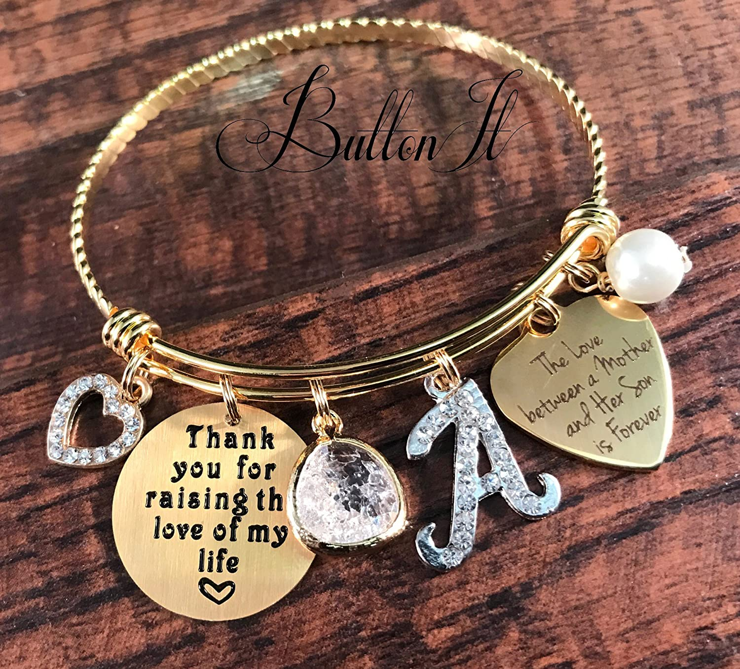 Thank You Bracelet Life Charms Silver Plated Jewellery Gift For Her