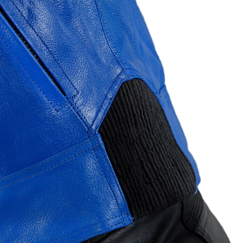 Lemoko Giacca da motociclista in pelle nera taglia M XXL