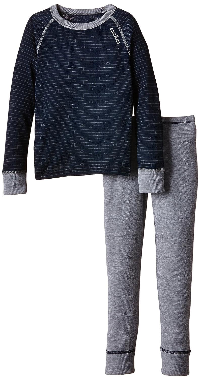 Odlo Kinder Funktionsunterwäsche Jungen Set Warm Kids Shirt Long Sleeve Pants Long