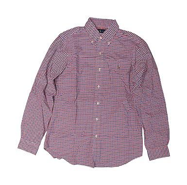 d357c543f Ralph Lauren Polo Mens Long Sleeve Shirt Red   Blue Checkered (Small ...