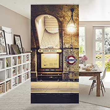 Flächenvorhang Set Baker Street Trennwand Wand Sichtschutz Paravent ...