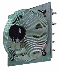 """TPI Corporation CE14-DS Direct Drive Exhaust Fan, Shutter Mounted, Single Phase, 14"""" Diameter, 120 Volt"""