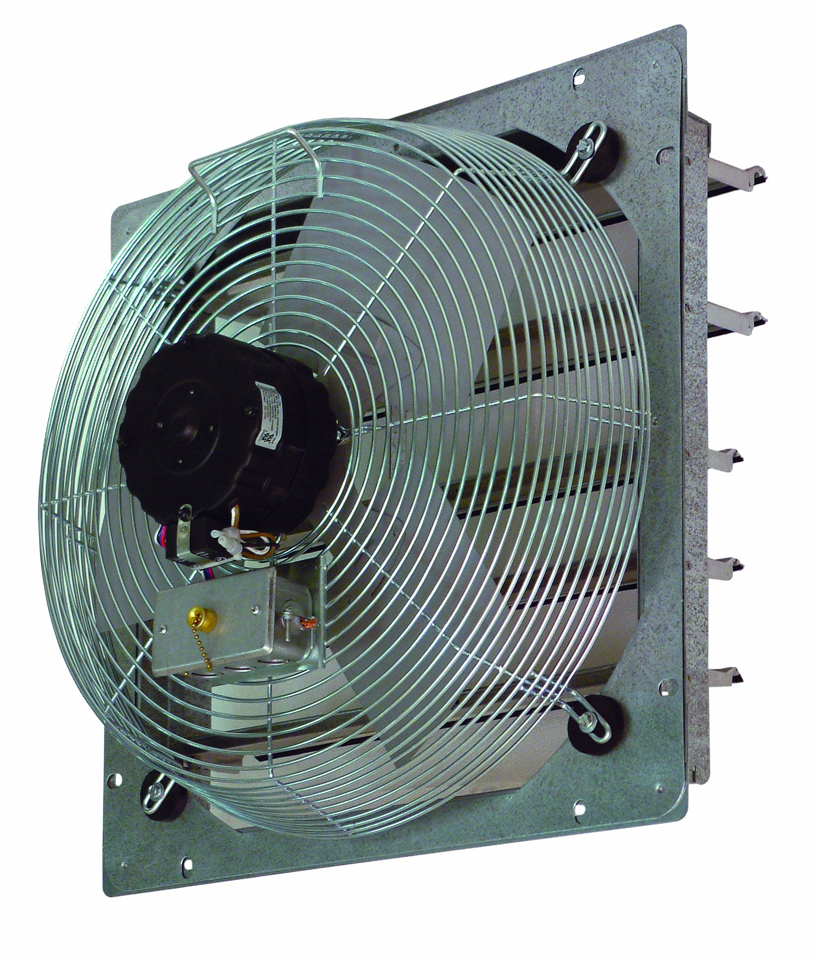 TPI Corporation CE14-DS Direct Drive Exhaust Fan, Shutter Mounted, Single Phase, 14'' Diameter, 120 Volt