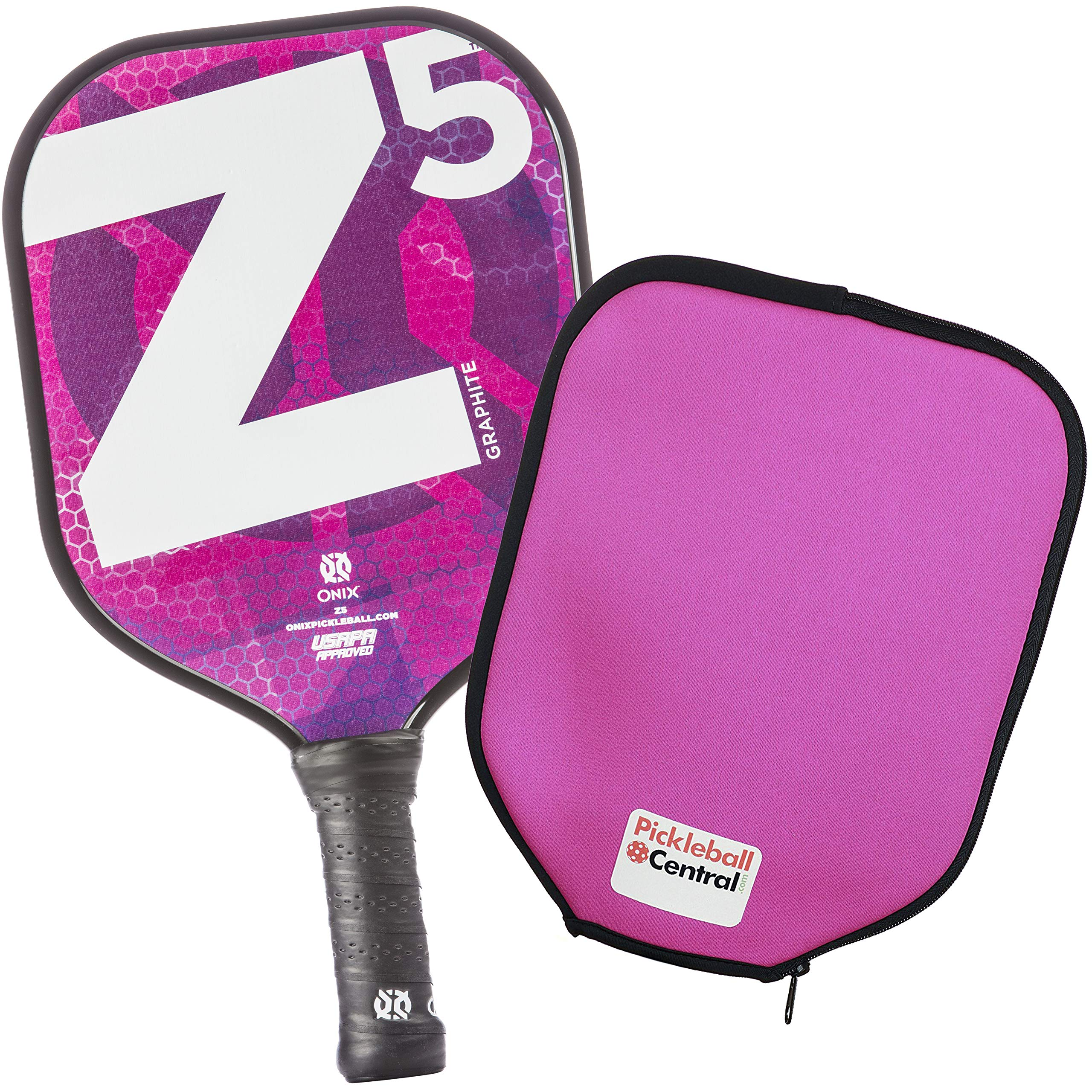 Onix Z5 Graphite Pickleball Paddle and Paddle Cover (Mod Pink) by Onix (Image #1)