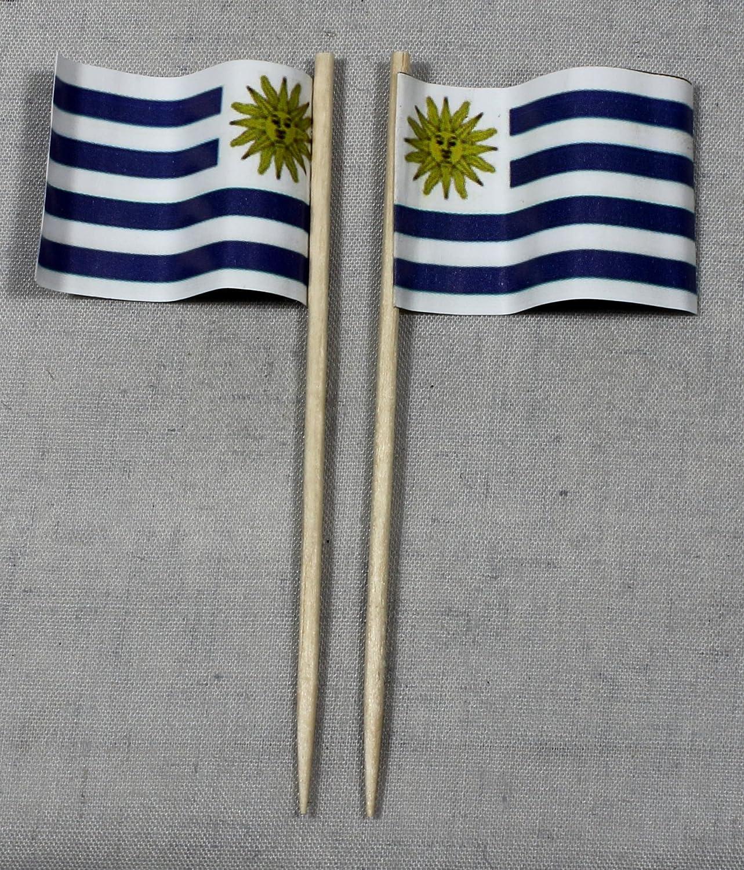 Party-Picker bandera de Uruguay banderitas de papel profesional 50 ...