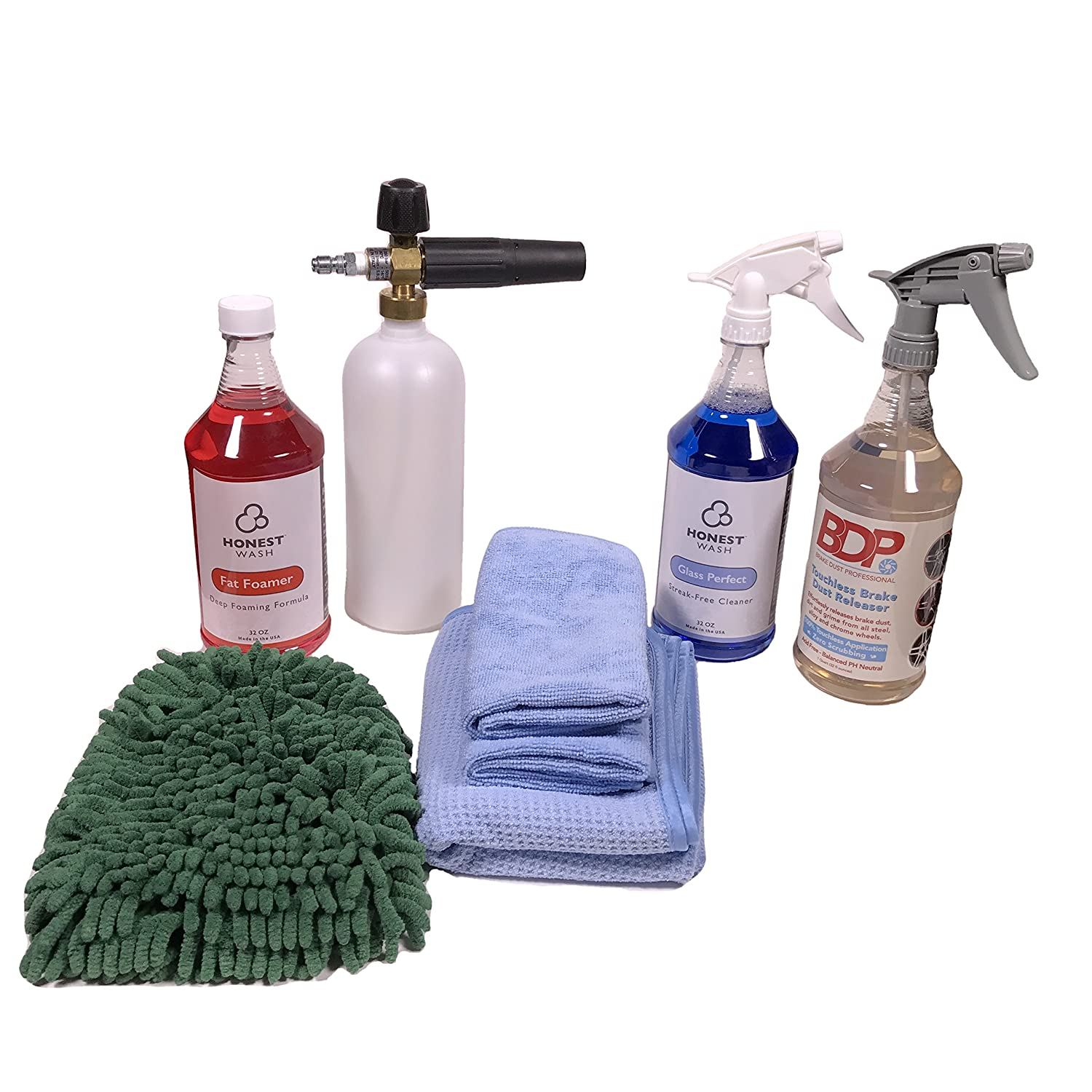 Honest Wash Deluxe Pressure Washer Foam Cannon Kit - Wash Your Car or Truck with a Thick Foam Lather - Includes Everything Needed