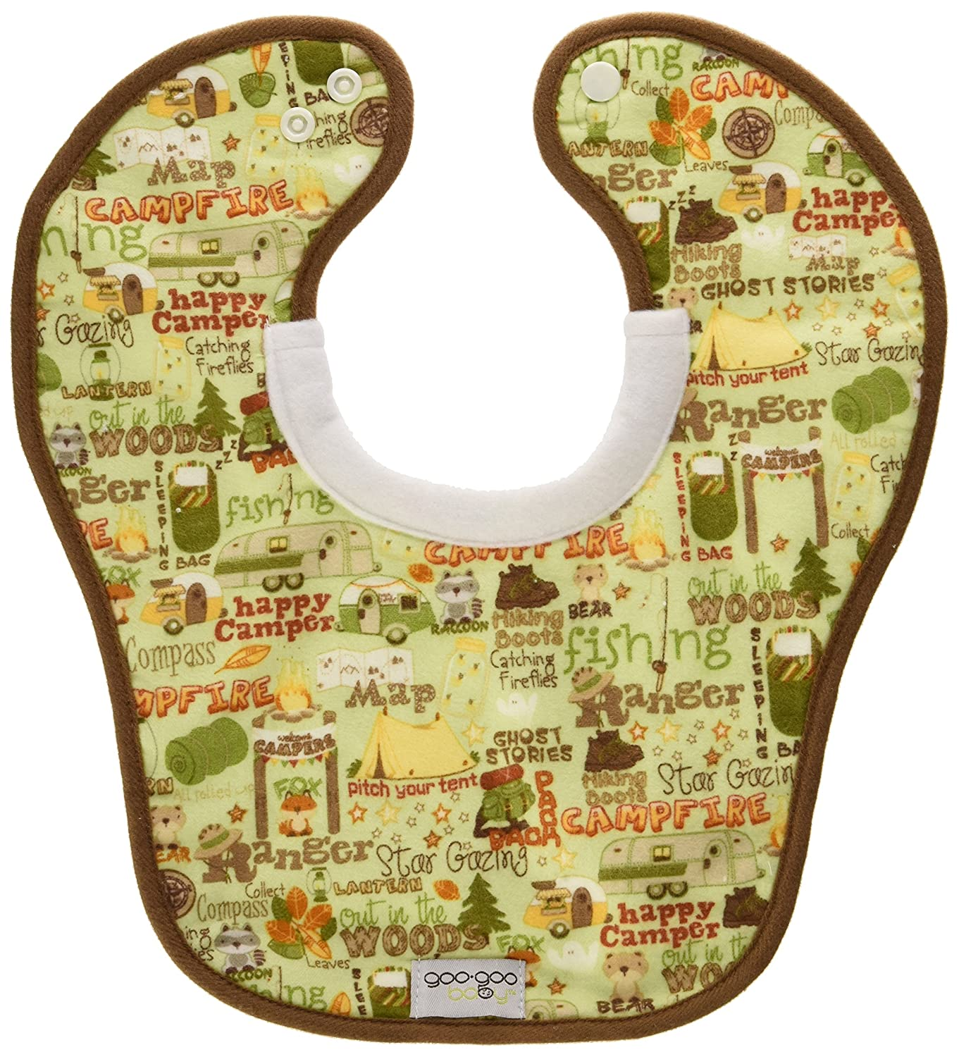 Goo-Goo Baby Miracle Milk Bib in Little Camper Print, Multi-Color MMB-CAMPER