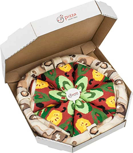 Pizza Socks Box MIX Hawaii Italian Capriciosa Cotton Dress Socks Funny Gift Unisex 4 Pairs