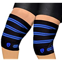 Xtrim DURA FIT - KNEE WRAP - SPORTS COMPETITION GRADE - PACK OF 2 ( TWO ) - Washable Elasticized Polyester Knee Support for Extreme Knee Stability in all sports activities. Length 2 Meters ( 78 inches) and Width 75 mm. Knee Band with HOOK AND LOOP Closure. High Grip, Low Compression, Soft, Flexible, Washable, Durable and Breathable. Red Line Elasticized Nylon Wrap.