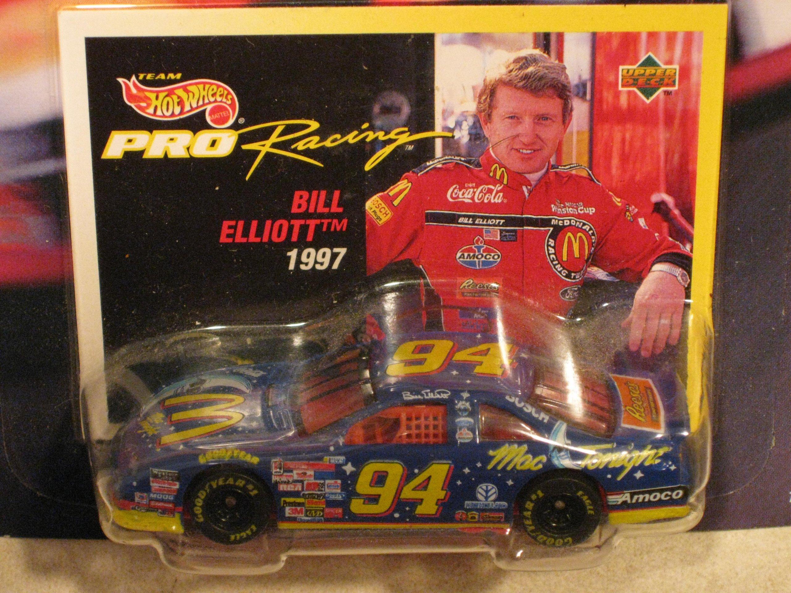 Team Hot Wheels Pro Racing 1997 Short Track 1st-Ed. Bill Elliott