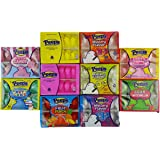 Marshmallow Peeps Easter Candy Chicks Super Pack: Yellow, Pink, Cotton Candy, Party Cake, Fruit Punch, Bubble Gum, Sour Watermelon, Mystery Flavors 1, 2 & 3 - 10 Pack of Chicks, 100 Peeps