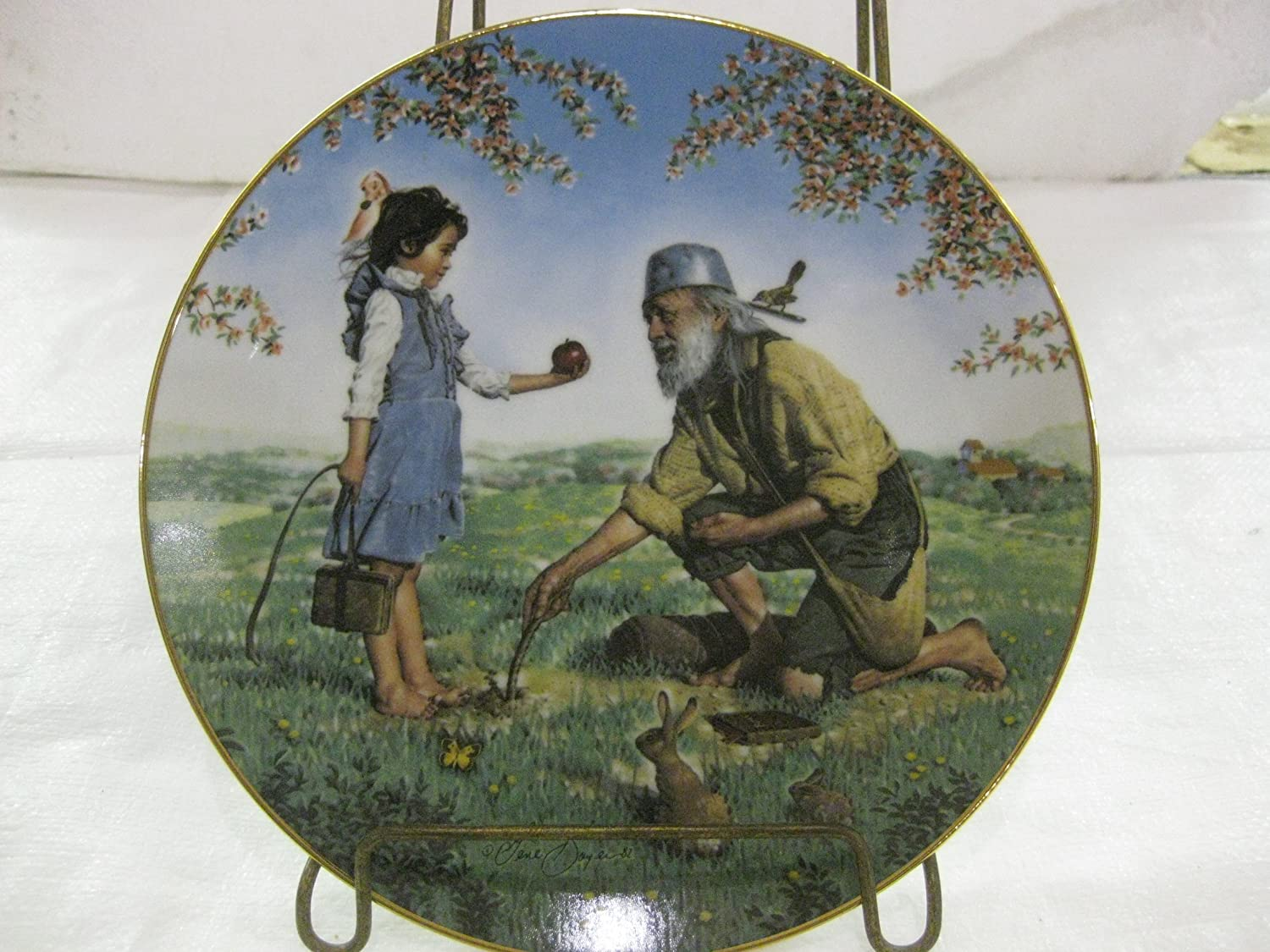 Plate The Bradford Exchange American Folk Heroes Johnny Appleseed First Issue in A Series Decorative