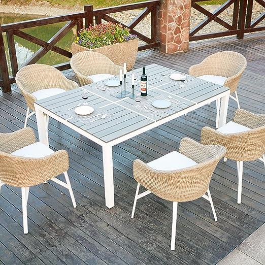 Mon Usine 212021 Le Caryle Salon de Jardin et 6 fauteuils en ...