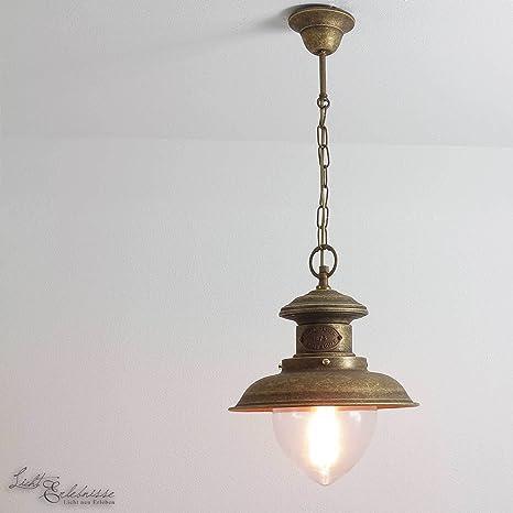 Premium - Lámpara de techo de latón envejecido E27 hasta 70 ...