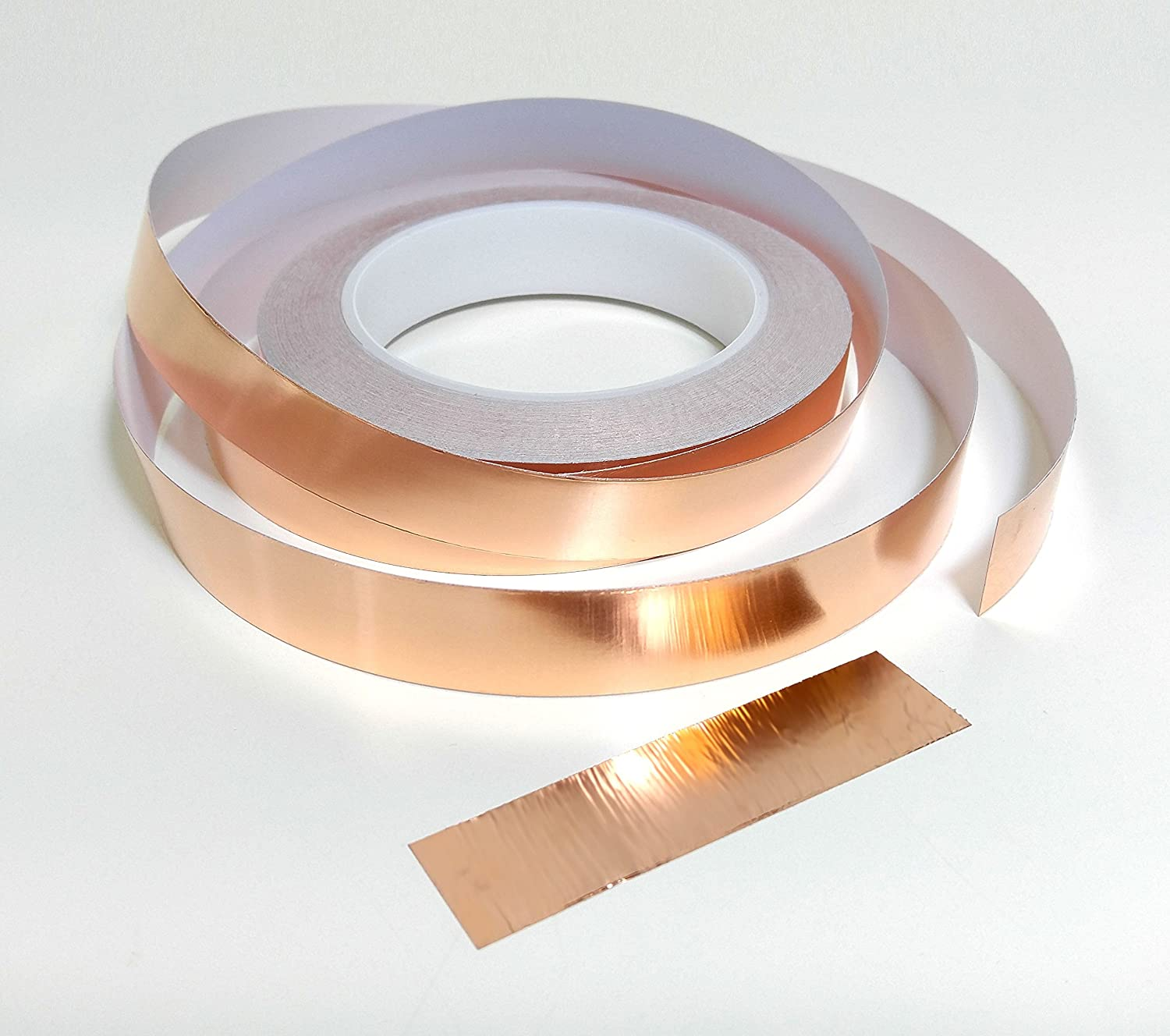 5mm 10mm 20mm x 25m Copper Slug Tape: Adhesive Copper Slug Snail Barrier Tape (10mm (W) x 25m (L)) EVG