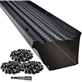 "LeafTek 5"" x 100' Gutter Guard Leaf Protection in Black 