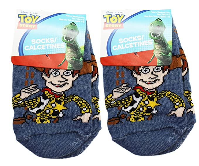 Disney Pixars Toy Story Woody Charcoal Colored Kids Socks (2 Pairs, ...